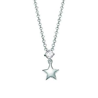 ESPRIT kids chain necklace Silver Star cubic zirconia ESNL93161A340