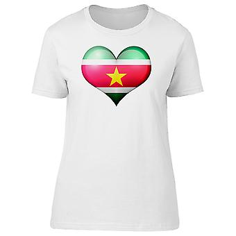 Suriname Heart Flag Doodle Tee Women's -Image by Shutterstock