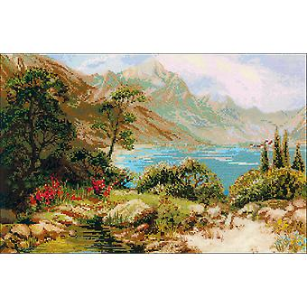 Mountain Lake Counted Cross Stitch Kit-23.75