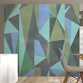 Tapete - grauen Dreiecke