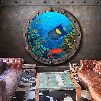 Tapeter - ubåt fönster