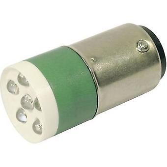 CML LED bulb BA15d Green 24 Vdc, 24 V AC 3150 mcd