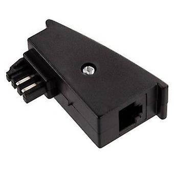 Hama Phone Adapter [1x TAE-F plug - 1x RJ45 8p2c socket] Black