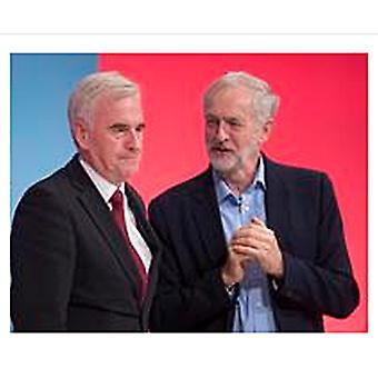 Jeremy Corbyn And John Mcdonnell Fridge Magnet