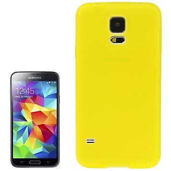 Housse Etui TPU pour Samsung Galaxy S5 / S5 neo transparent jaune