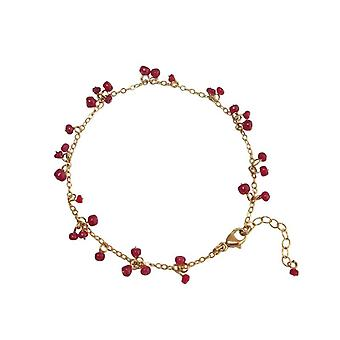 Vergulde armband Ruby Ruby armband rood