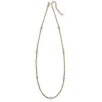 Elements Gold Freshwater Pearl Twist Chain Necklace - Gold/White