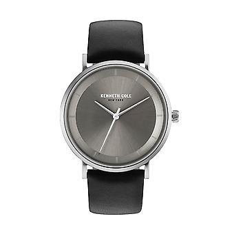 Kenneth Cole New York men's wrist watch analog quartz leather KC50567002