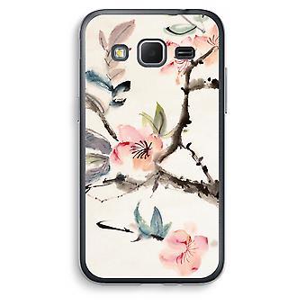 Samsung Galaxy Core Prime Transparent Case (Soft) - Japenese flowers