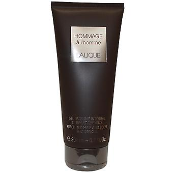 Lalique Hommage a L'Homme Hair and Body Shower Gel Perfumed 200ml