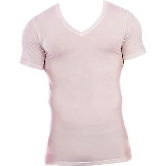 Obviously Essence Deep V-Neck Short Sleeve Undershirt - White