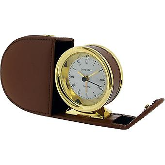 Gift Time Products Leather Case Alarm Clock - Gold/Tan