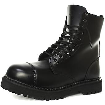 Grinders Bulldog CS Blk 10 Eye Unisex Extra Thick Sole Derby Boots
