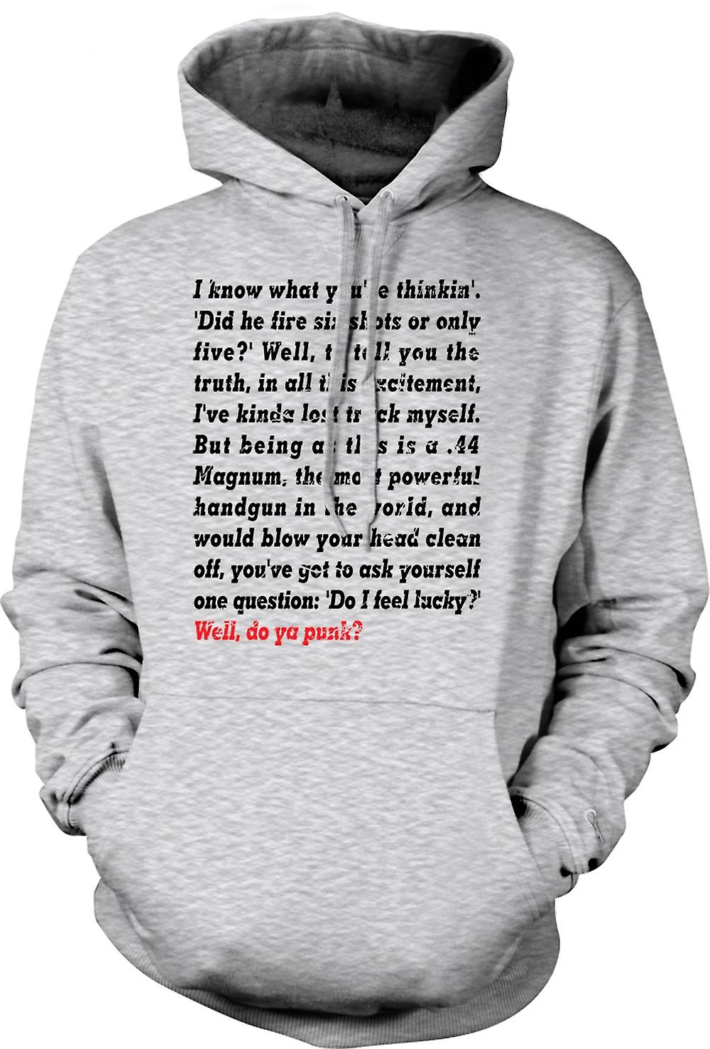 Mens Hoodie - I Know What You're Thinkin - Did He Fire - Funny Quote