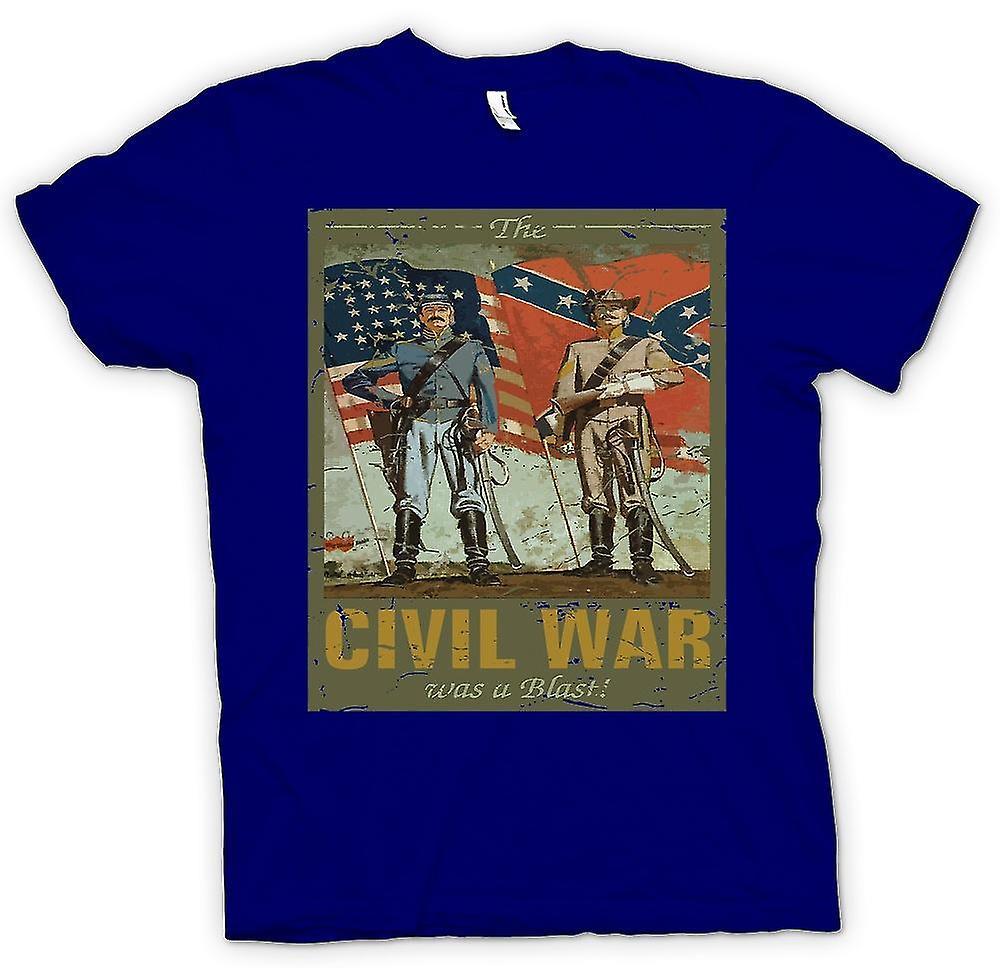 Mens T-shirt-la guerre civile a été une explosion - guerre de sécession