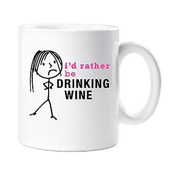 Damerna jag skulle hellre dricka vin mugg