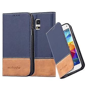 Cadorabo etui til Samsung Galaxy S5 MINI / S5 MINI duo - sag med niveau funktion og kort dækning fra en kunstig læder dragter - tilfælde dække ærme sag lommebog