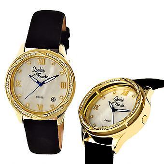 Sophie & Freda Los Angeles Swiss Ladies Watch - Gold/White