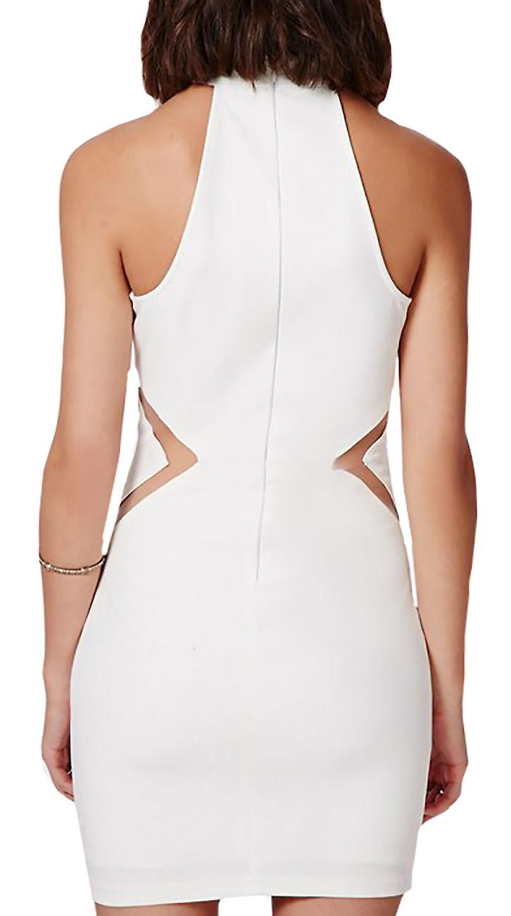 Waooh - Short Dress with Sheer Panel Eigh