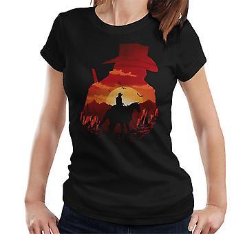 Dead Redemption silhuett kvinner t-skjorte
