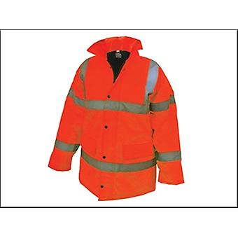Scannen Sie Hi-Vis Autobahn Jacke Orange - XL (46-48 In)