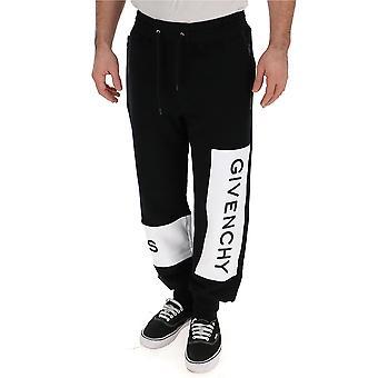 Givenchy White/black Cotton Joggers