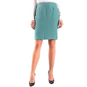 Armani Collezioni Green Linen Skirt