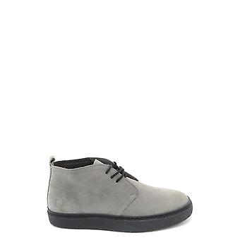 Fred Perry Grey Suede Ankle Boots