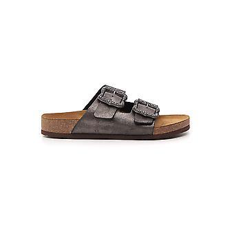 Marc Jacobs sølv læder sandaler