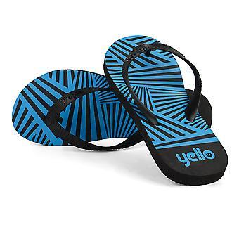 Yello Mens Zig Zag Größe 6/11 Flip Flops sortiert