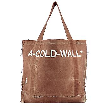 A Cold Wall Brown Cotton Tote