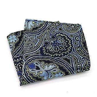 Dark green turquoise handkerchief party pocket square
