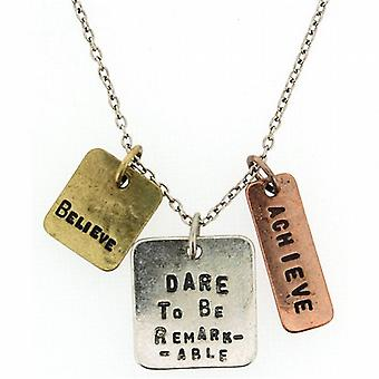 Dare To Be Remarkable.... Triple Charm Tag Pendants 16