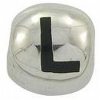 TOC BEADZ 925 Silver Initial L 9mm Slide-on Bead
