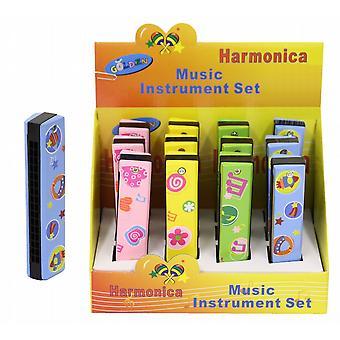 Houten Harmonica - geschilderd ontwerp