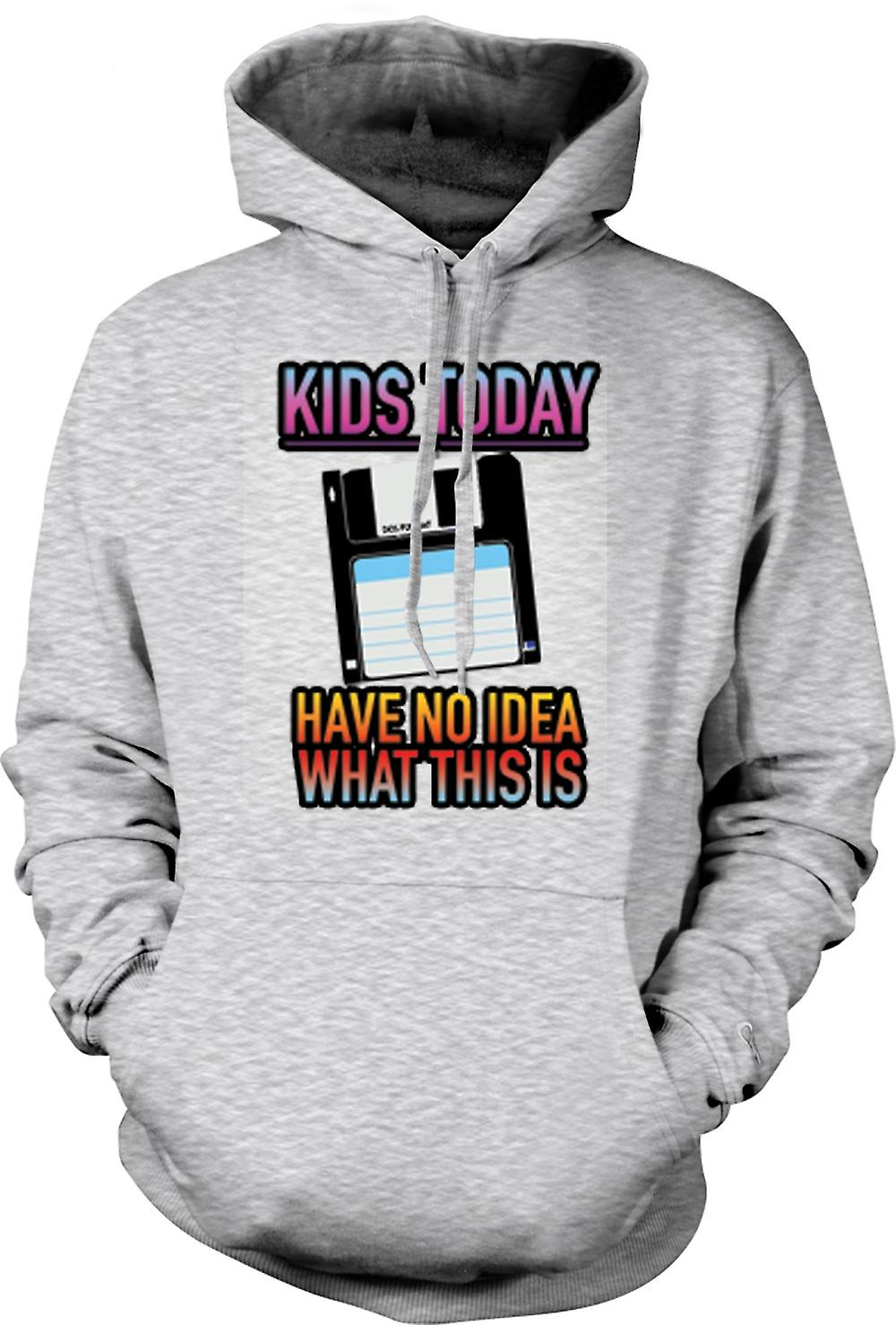 Mens Hoodie - Kids Today Have No Idea What This Is - Floppy Disk