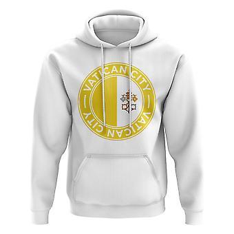 Vatikanstaten fotboll Badge hoodie (vit)