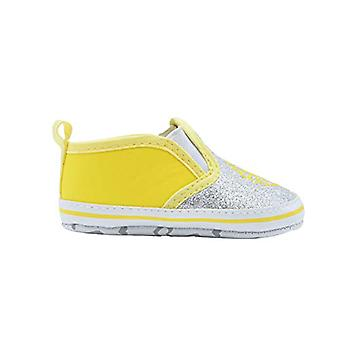 dELiAs Infant Girl Crib Shoe Infant Glitter Vinyl Slip On Sneaker
