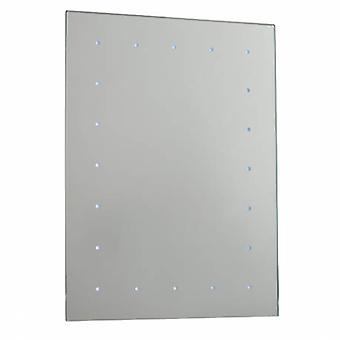 Luz iluminada baño espejos blanco brillante, vidrio espejado IP44