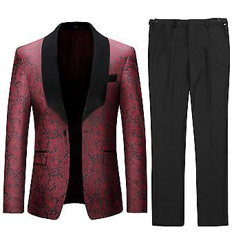 Allthemen mäns tuxedos bröllop 2-Pieces Slim Fit bankett kostym klänning kavaj & byxor
