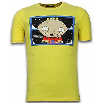 Stewie Home Alone-T-shirt-Yellow
