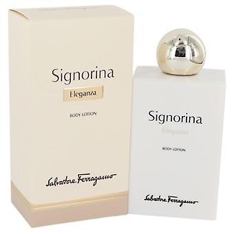 Lotion pour le corps de Eleganza Signorina par Salvatore Ferragamo