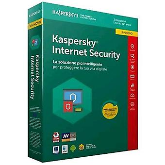 Kaspersky internet security 2018 license for 3 devices for 1 year renewal version (english)