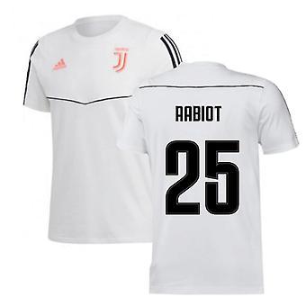 2019-2020 Juventus Adidas Trainings-Tee (Weiß) (Rabiot 25)
