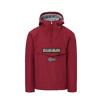Napapijri Rainforest Hooded Jacket Red Bourgogne