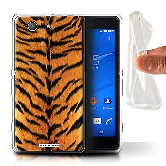 STUFF4 Gel TPU Case/Cover for Sony Xperia Z3 Compact/Tiger/Animal Fur Pattern