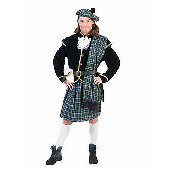 Costume da uomo scozzese Costume Highlander Costume maschile