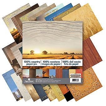 Papier maison Double Sided Paper Pad 12 « X 12 » 24 feuilles 100 % Country Php12 0032