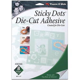 Sticky Dot Die Cut Adhesive Sheets 8 Pkg 8.5