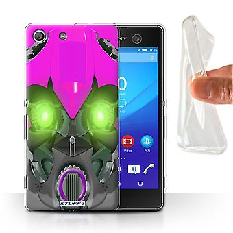 STUFF4 Gel/TPU Case/Cover for Sony Xperia M5/Bumble-Bot Purple/Robots